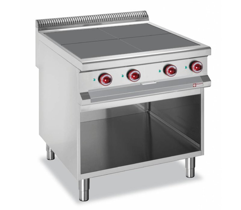 Diamond Electric furnace steel | 4 Cooking 300x300mm | 10kw | Open Frame | 800x900x850 / 920 (h) mm