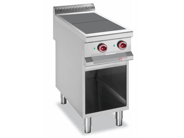 Diamond Electric furnace steel | 2 Cooking 300x300mm | 5kW | Open Frame | 400x900x850 / 920 (h) mm