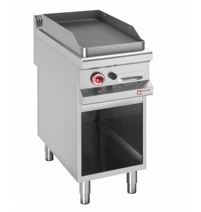 Diamond griddle | electric | Ribbed Griddle | 400V | 6kW | Open Cupboard | 400x900x (h) 850 / 920mm