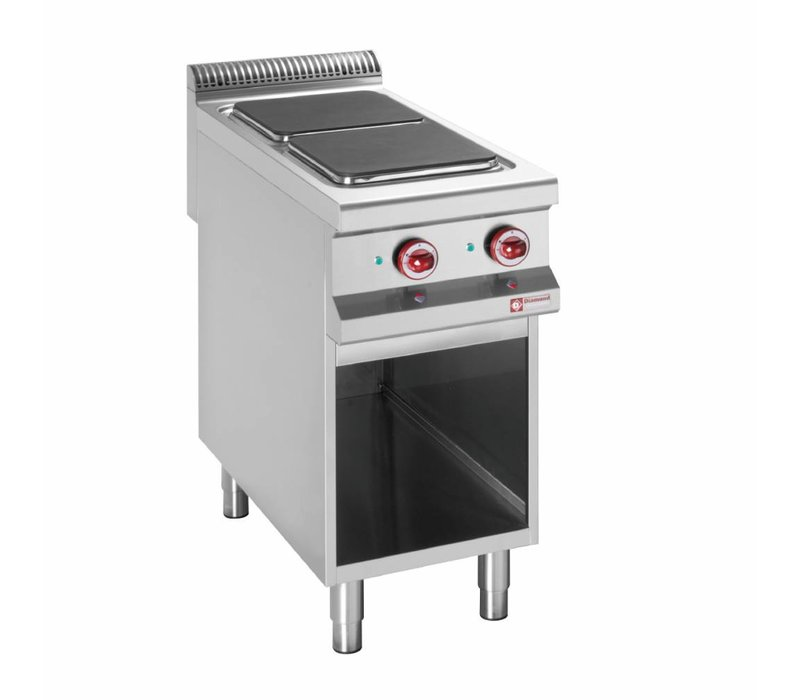 Diamond Electric Stove | 2 Cooking | 400V | 3kW | Open Cupboard | 400x900x (h) 850 / 920mm
