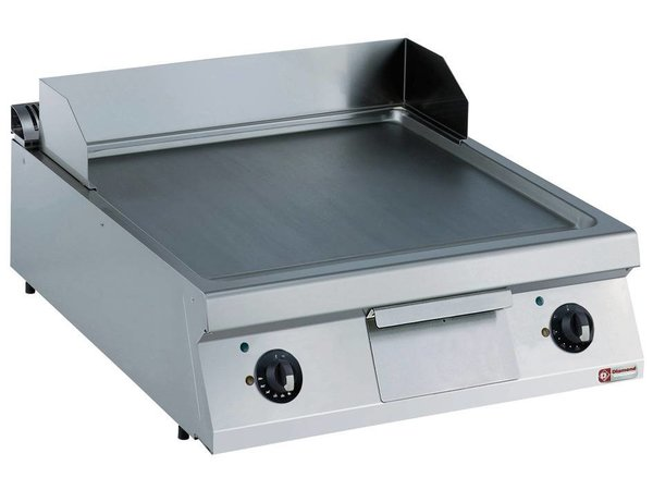 Diamond Fry Top Electric SS | smooth | 2 Zones | 15kW / 400V | 800x900x250 / 320 (h) mm