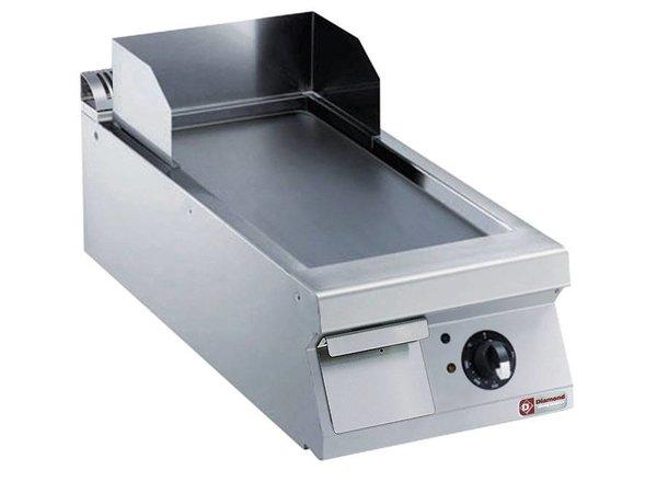 Diamond Bakplaat Elektrisch RVS | Glad | 7,5kW/400V | 400x900x250/320(h)mm