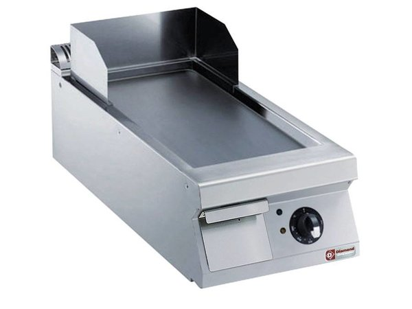 Diamond Fry Top Electric SS | smooth | 7.5kW / 400V | 400x900x250 / 320 (h) mm
