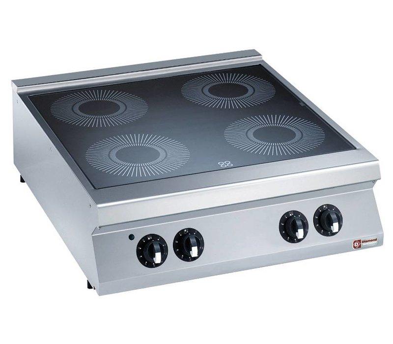 Diamond Glass ceramic stove   electric   4 Zones   4x4kW   800x900x250 / 320 (h) mm