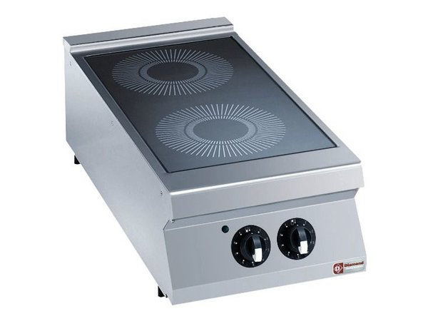 Diamond Glass ceramic stove | electric | 2 Zones Ø300mm | 6,8kW | 400x900x250 / 320 (h) mm