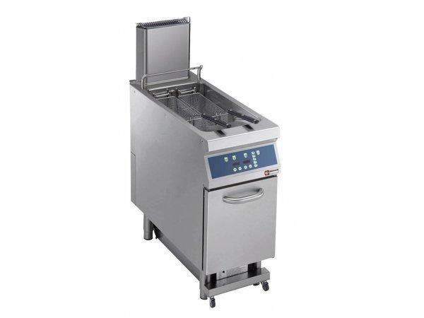 Diamond Fritteuse | Elektrizität | 23 Liter | 400V | 18kW | Am Fahrwerk | digital | 400x900x (h) 850 / 1200mm