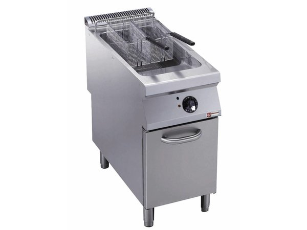 Diamond fryer | electric | 23 Liter | Exterior Burners | on Cabinet | 400x900x (h) 850 / 920mm