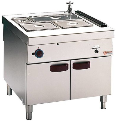 Diamond Bain Marie | 2 x GN 1/1 + 2 x 1/3 GN | Gas | With Mount | 6kW | 900x1100x (h) 850mm