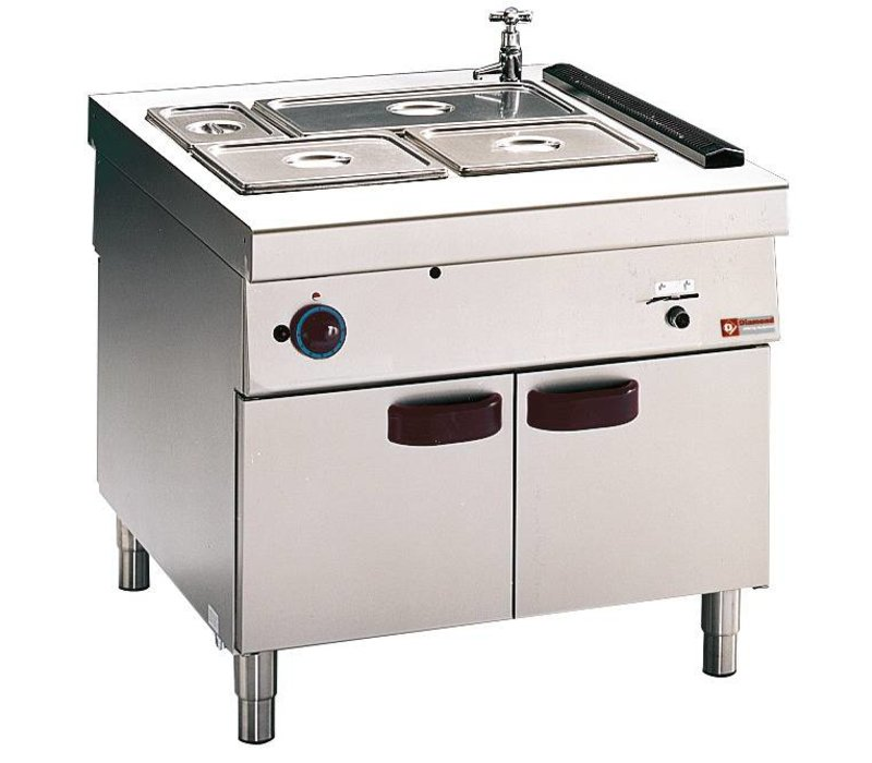Diamond Bain Marie   2 x GN 1/1 + 2 x 1/3 GN   Gas   With Mount   6kW   900x1100x (h) 850mm