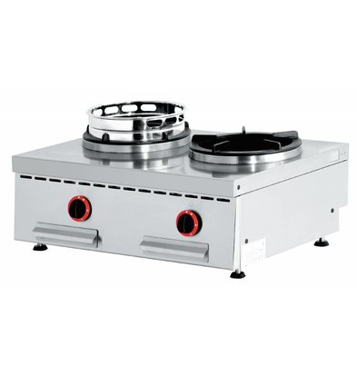 Diamond Wok burner gas stove 2 Tabletop - 2 x 15KW