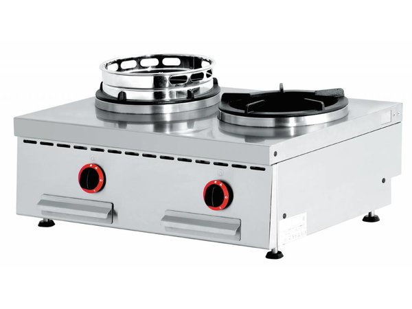 Diamond Wok-Brenner Gasherd 2 Tabletop - 2 x 15KW