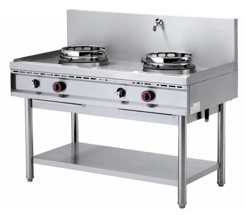 Diamond Wok burner gas stove with two water curtain - 2 x 15KW