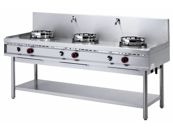 Diamond Wok burner gas stove 3 with Water curtain - 3 x 15KW
