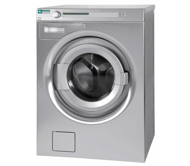 Diamond Hotel Waschmaschine 7 kg Edelstahl - 400v - 595x595x (H) 850mm