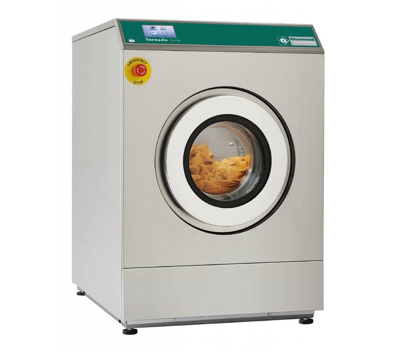 Diamond Hotel Washer 8 kg stainless steel - Powerful - 400v - 720x927x (h) 1039mm