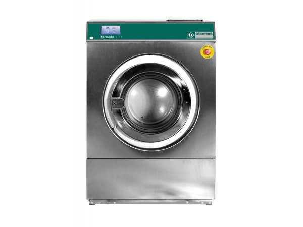 Diamond Hotel Washer 14 kg stainless steel - Powerful - 400v - 880x1010x (h) 1264mm