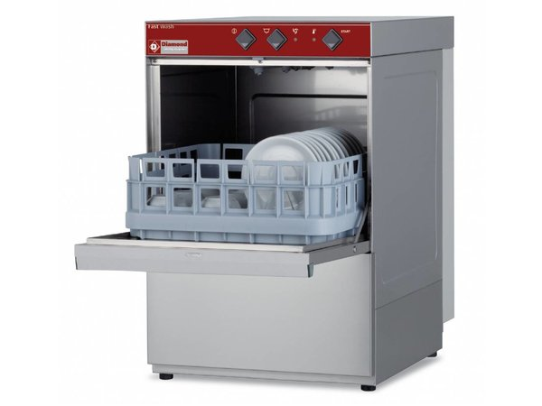 Diamond Glasswasher | 40x40cm | 43x53x (h) 66cm | Cycle 150 sec | Made in Italy