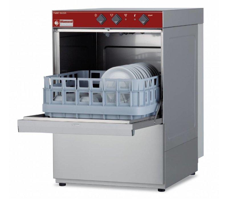 Diamond Glazenspoelmachine | 40x40cm | 43x53x(h)66cm | Afvoerpomp | Made in Italy