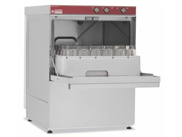 Diamond Glazenspoelmachine | 40x40cm | 53x58x(h)71cm | Afvoerpomp | Made in Italy