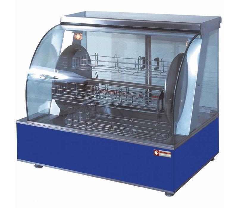 Diamond Kippengrill Elektrisch Tafelmodel - Roterend met 4 Korven - 940x590x(h)790mm - 5.4KW