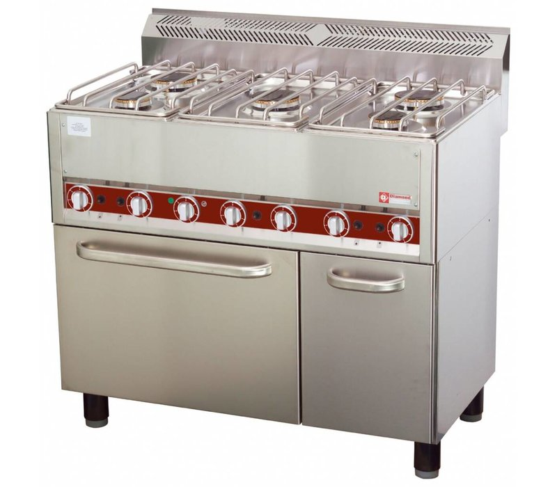 Diamond Horeca Stove | gas | 5 Burners | Convection Oven | 3 and 3,6kW | 990x600x (H) 860mm