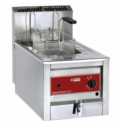 Diamond Edelstahl Gas Fryer | 12 Liter | Bis 190 ° C | Inkl. Ablassventil | 400x600x525 (h) mm