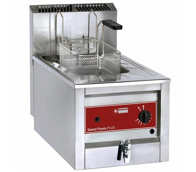Diamond Friteuse RVS Gas | 12 Liter | Tot 190°C | Incl. Aftapkraan | 400x600x525(h)mm