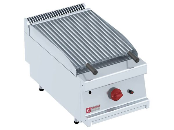 Diamond Lavasteingrill Gas SS | Doppelseitiges Griddle | 400x700x280 (h) mm