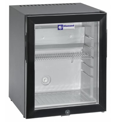 Diamond Mini Bar with Glass Door | 32 liters | 402x406x500 (h) mm