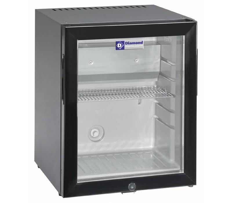 Diamond Minibar mit Glastür | 32 Liter | 402x406x500 (h) mm