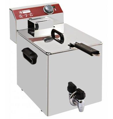 Diamond Elektrische Friteuse PRO | 8 Liter | Met Aftapkraan | 3,5 kW | 290x450x(H)370mm