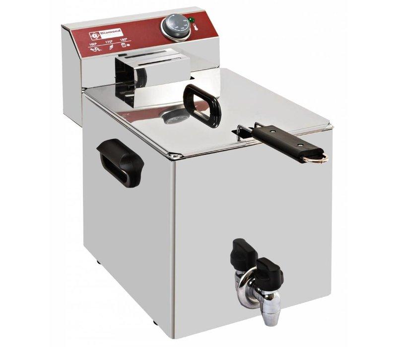 Diamond Electric Fryer PRO | 10 Liter | With drain valve | 4.5 kW | 290x450x (H) 375mm