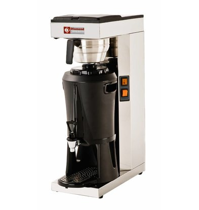 Diamond Coffee maker with Faucet Manual - Automatic Refill - 2.2 kW - 2.5 liters
