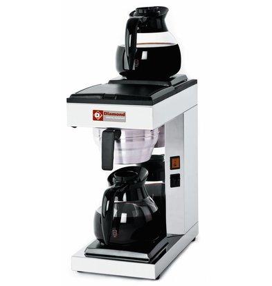 Diamond Koffiezetapparaat 1,8 Liter Digitaal | Incl. 2 Glazen Kannen en 2 Warmhoudplaten | 2,4KW