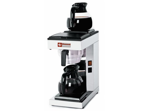 Diamond Coffee 1,8 Liter Digital | Inkl. 2 Glaskannen und 2 Kochplatten | 2,4KW