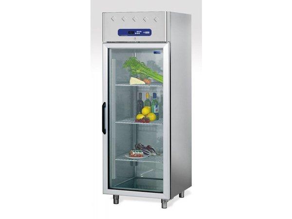 Diamond Kühlschrank mit Glastür - Edelstahl - 700 Liter - 75x82x (h) 203cm - DELUXE