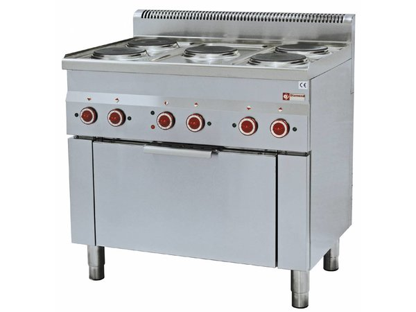 Diamond stove | Electric Convection Oven | 5 Cooking | 400V | 14kW | 900x600x (h) 850 / 970mm