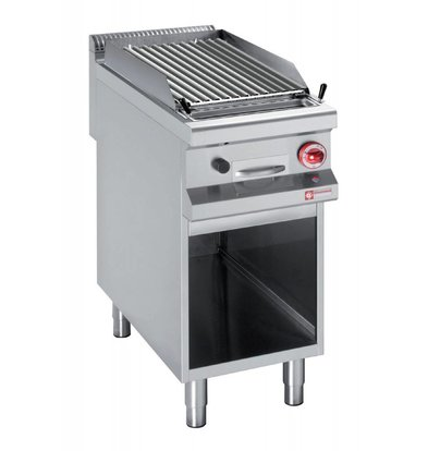 Diamond Gas Lava Rock Grill | 11 Kw | Open Substructure GN1 / 1 | Grid 2 Silk | 400x900x850 / 920 (h) mm