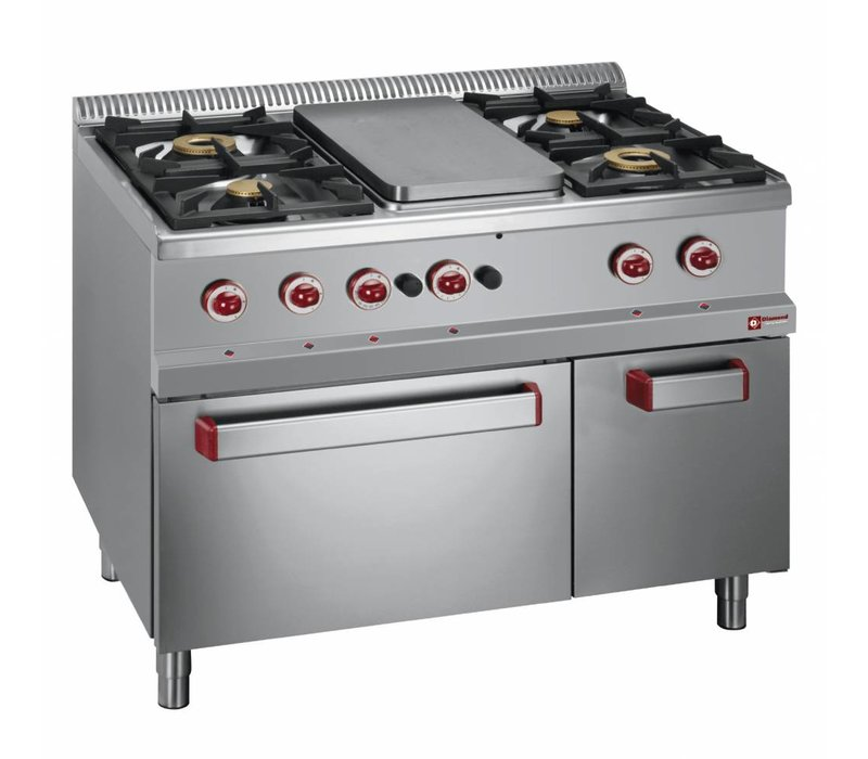 Diamond Gas stove | 4 Burners | 3.5 and 6kW | simmering | Gas | 1100x700x (h) 850 / 920mm