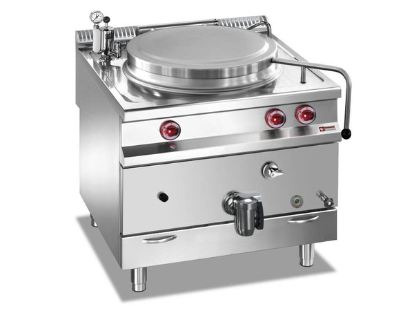 Diamond Gas Kochkessel SS   100 Liter   Indirekte Heizung   800x900x850 / 920 (h) mm