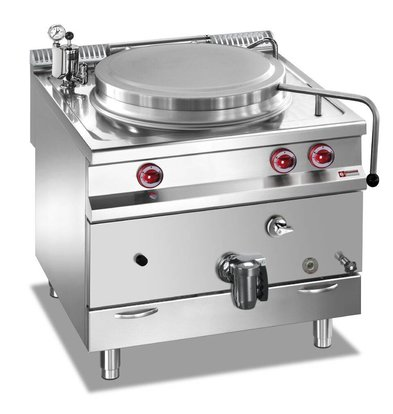 Diamond Gas Boiling Pan SS | 150 Liter | Indirect Heating | 800x900x850 / 920 (h) mm