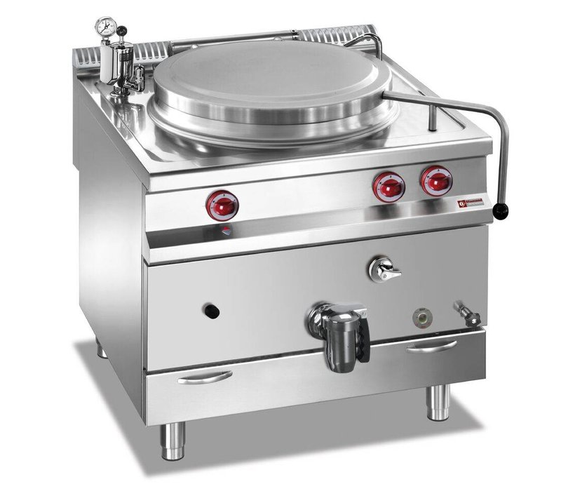 Diamond Gas Kookketel RVS   150 Liter   Indirecte Verwarming   800x900x850/920(h)mm