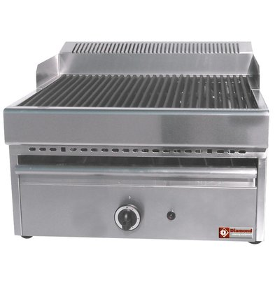 Diamond Steam Gas Grill - grill Cast iron - Tabletop - 330x470mm - 41x63x (h) 43cm
