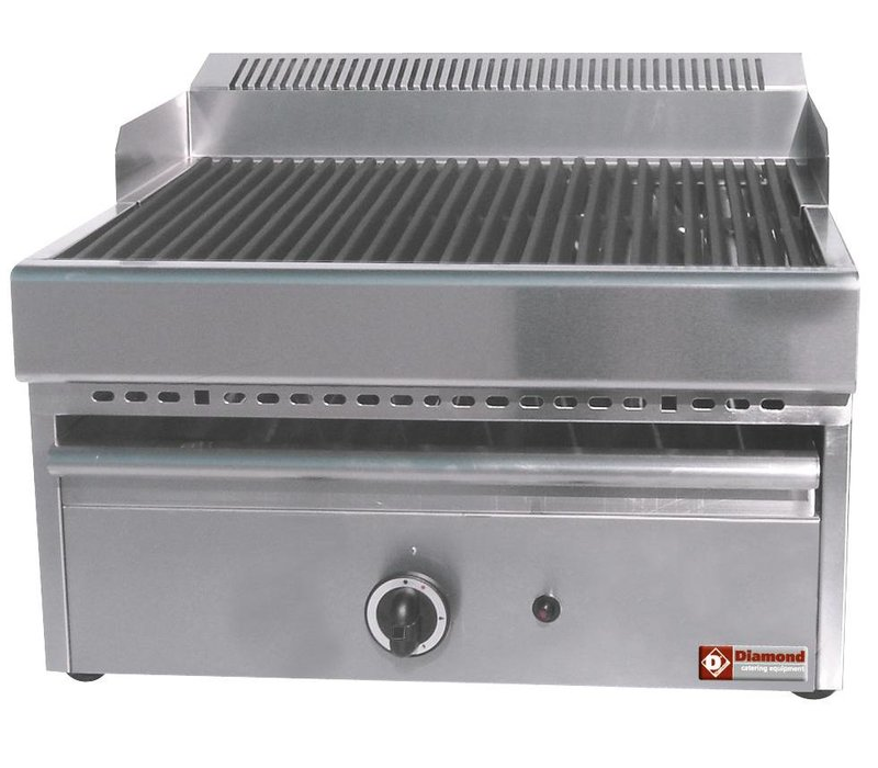 Diamond Dampf-Gas-Grill - Grill aus Gusseisen - Tabletop - 330x470mm - 41x63x (h) 43 cm