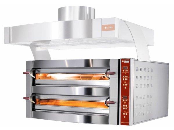 Diamond Pizza Oven dubbel   2 x 9 Pizza's Ø35cm   400V   23,4kW   1550x1460x(H)780mm