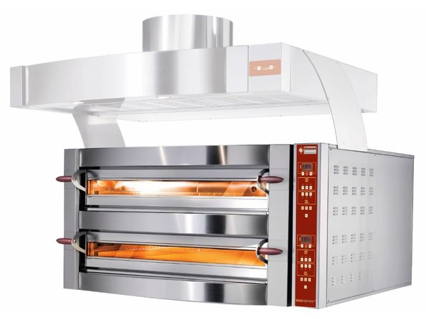 Diamond Pizza Oven Dubbel | 2 x 6 Pizza's Ø35cm | 400V | 7,8 kW | 1190x1460x(H)780mm