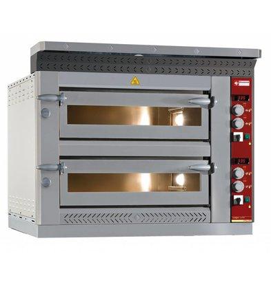 Diamond Pizzaofen Elektrisch Doppel | 2x 6 Pizzen Ø35cm | 13,2kW | 1070x1360x (H) 720mm