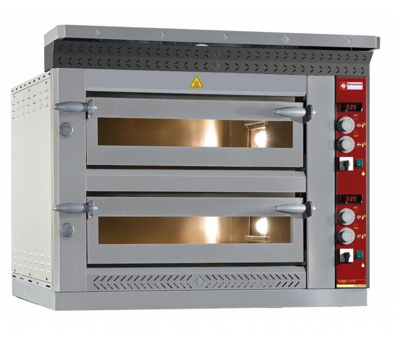 Diamond Pizza Oven Electric Double | 2 x 6 pizzas Ø35cm | 13,2kW | 1070x1360x (H) 720mm