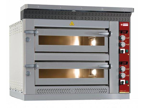 Diamond Pizza Oven Elektrisch Dubbel XL | 2x 6 Pizza's Ø35cm | 18kW | 1420x1010x(H)720mm