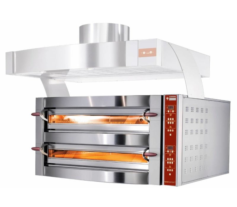 Diamond Pizza Oven Double | 2 x 4 pizzas Ø35cm | 400V | 10,6kW | 1190x1100x (H) 780mm